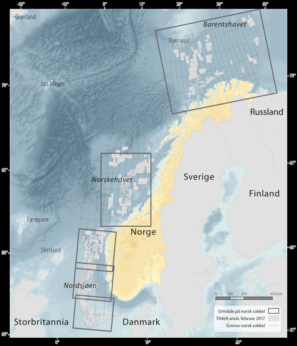 Havområder på norsk kontinentalsokkel