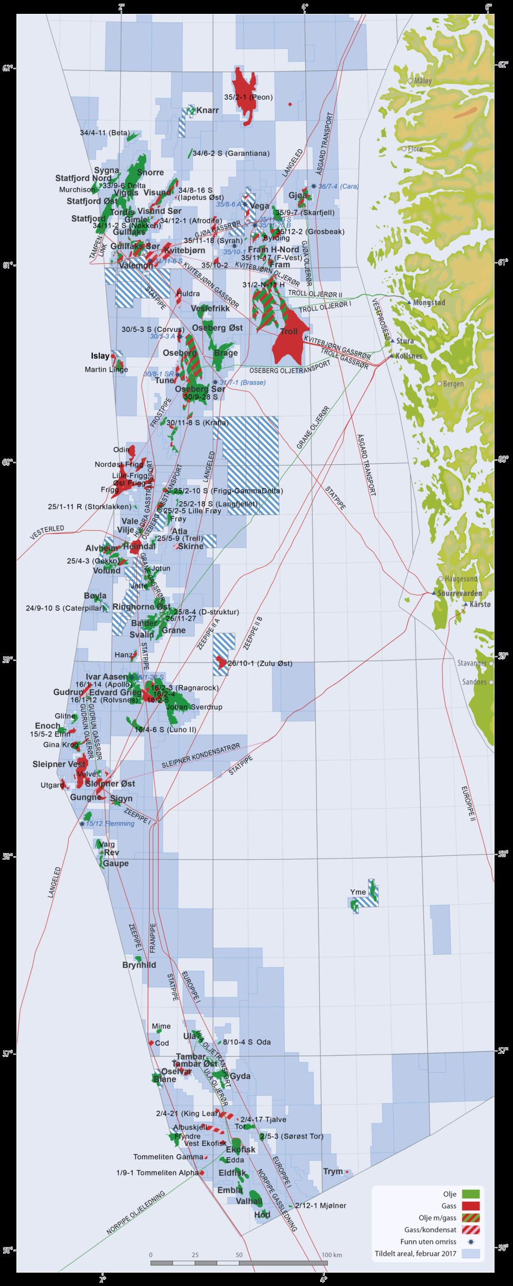 Felt og funn i Nordsjøen