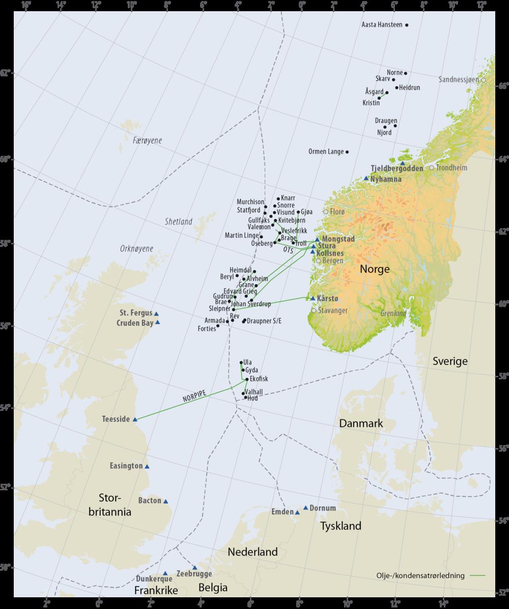 Oljerørledninger på norsk kontinentalsokkel
