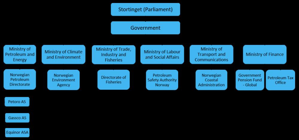 State organisation of petroleum activites