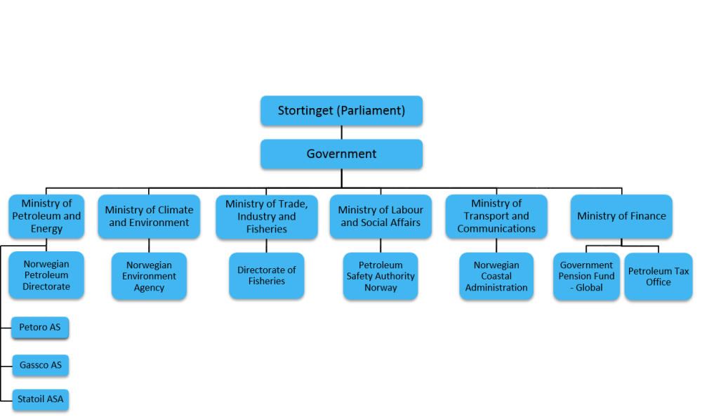 State organisation of petroleum activities