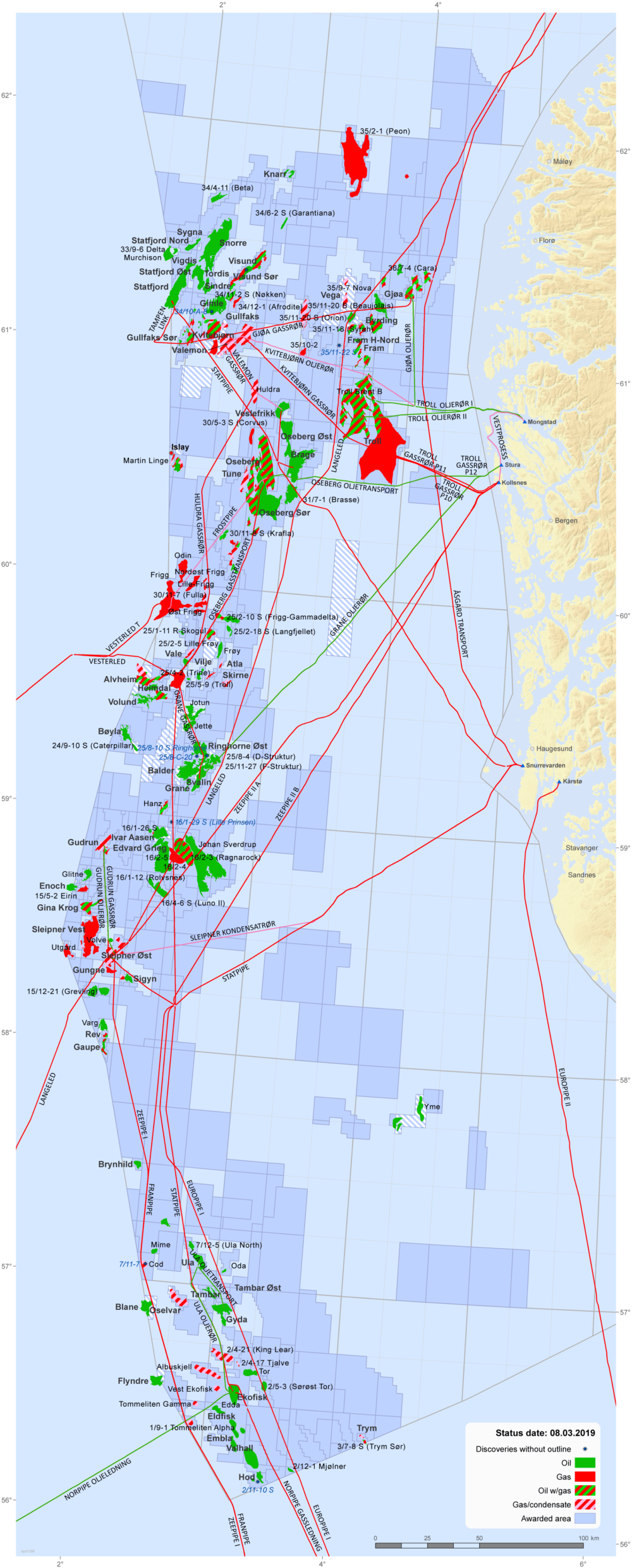 Map Of Uk Oil Fields.Activity Per Sea Area Norwegianpetroleum No