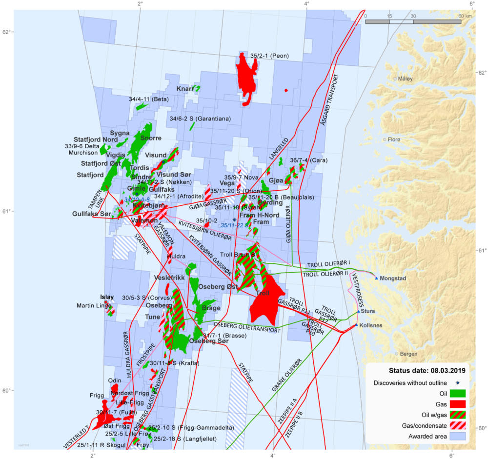 Map Of Uk Oil Fields.Activity Per Sea Area Norwegianpetroleum No