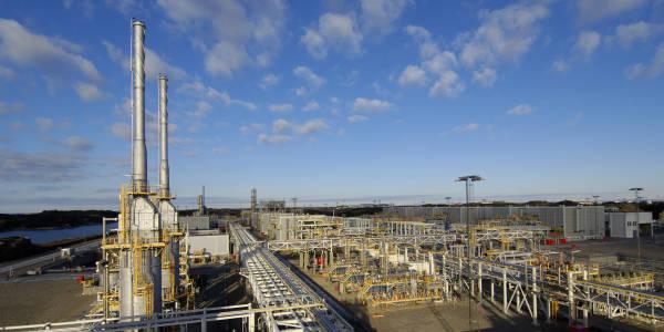 Bilde av Kollsnes gassbehandlingsanlegg
