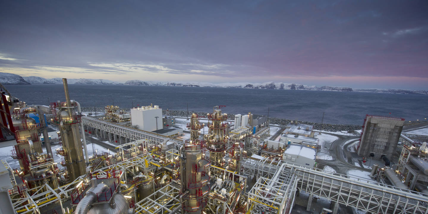 Picture of the LNG plant at Melkøya