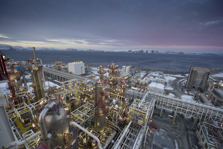 Bilde av LNG-anlegget på Melkøya i Hammerfest