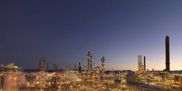 Picture of the Mongstad refinery