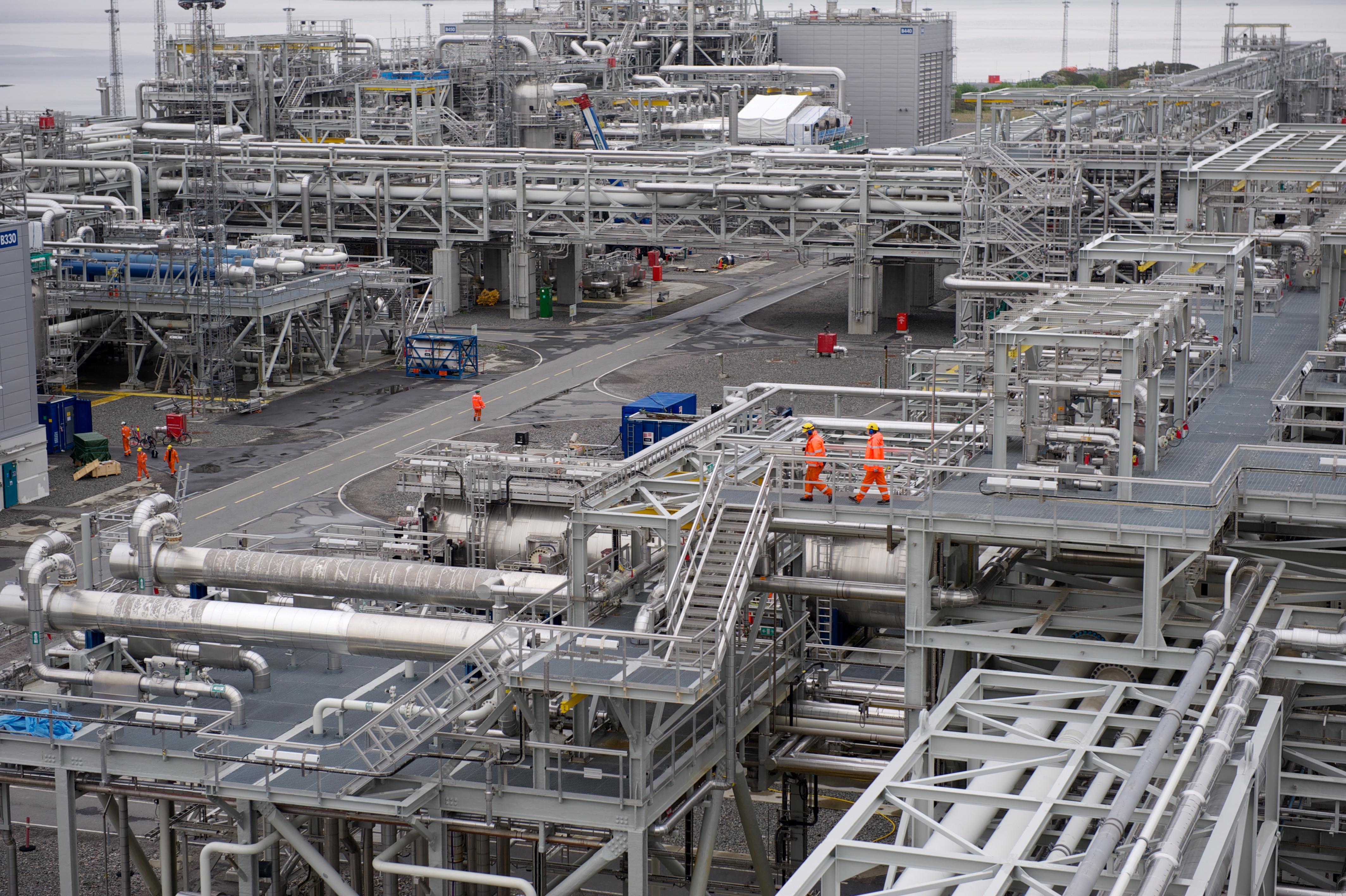 Bilde av gassbehandlingsanlegget på Hyhamna