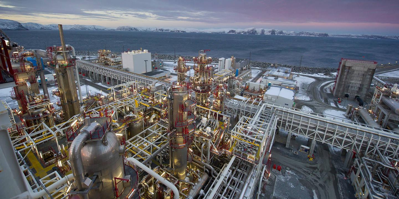Bilde av LNG-anlegget på Melkøya