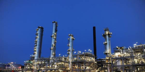 Bilde av metanolfabrikken på Tjeldbergodden